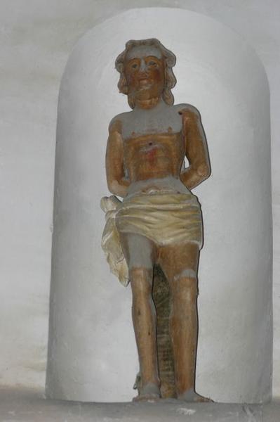 Deux statues : Sainte Anne et Saint Sébastien