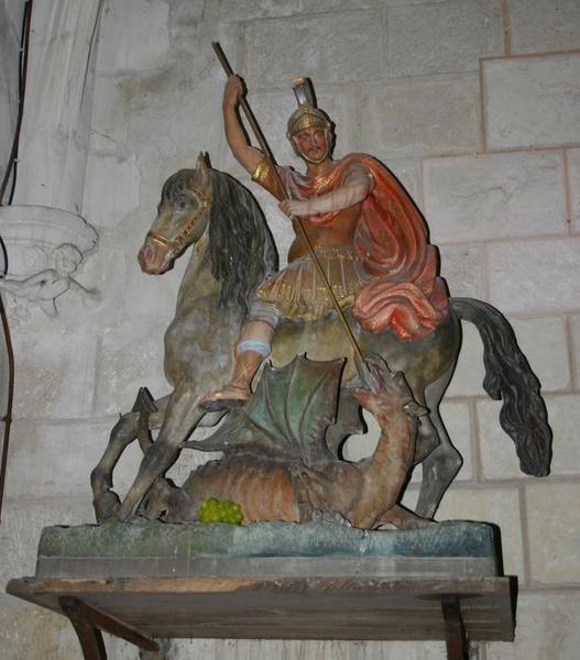 statue : Saint Georges terrassant le dragon
