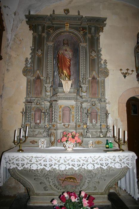 autel latéral, retable et tabernacle