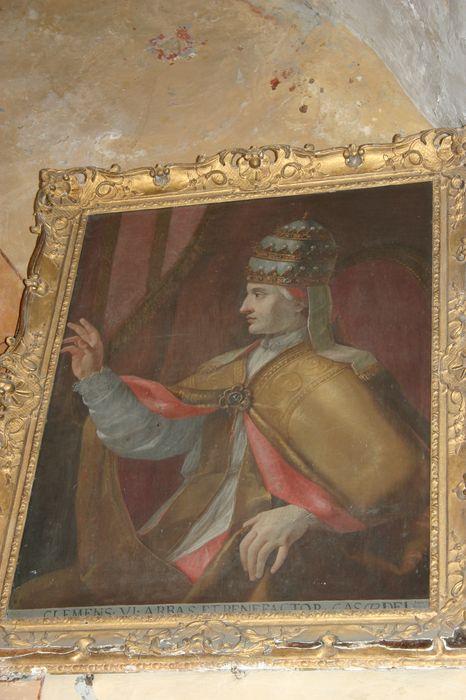 tableau et son cadre : Portrait du Pape Grégoire XI