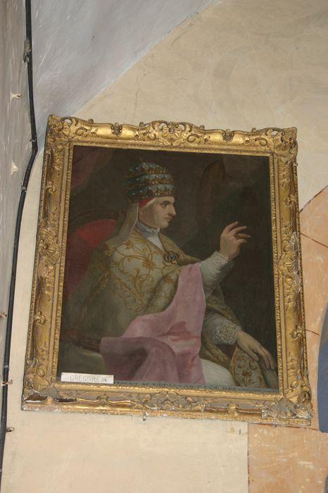 tableau et son cadre : Portrait du Pape Clément VI