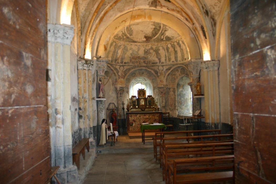 décor peint du choeur : Mise au tombeau, les apôtres, vue générale