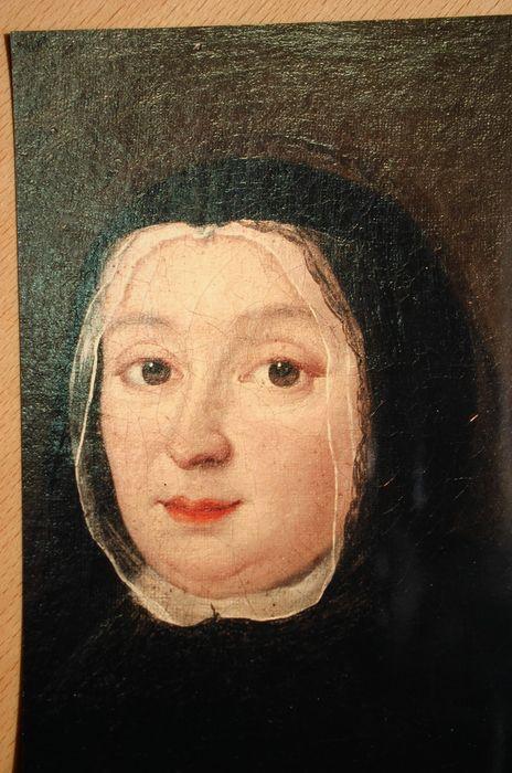 Tableau et son cadre : Portrait de Catherine du Bos