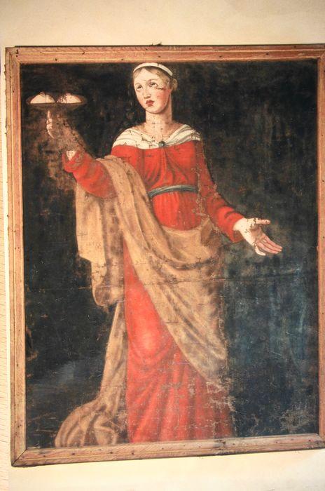Tableau et son cadre : Sainte Agathe