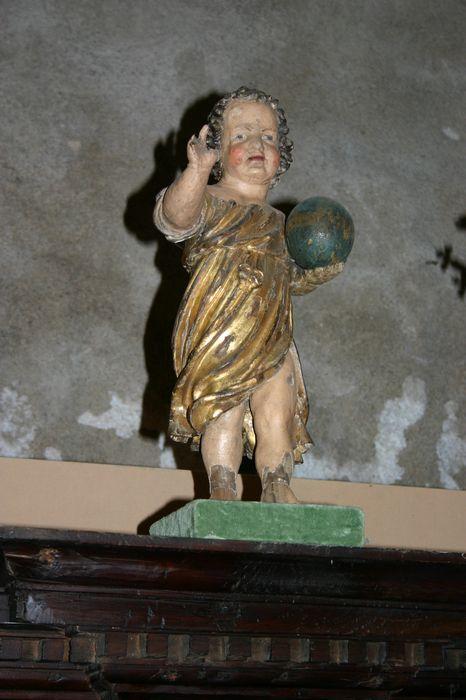Statue (statuette) : Enfant Jésus tenant le globe