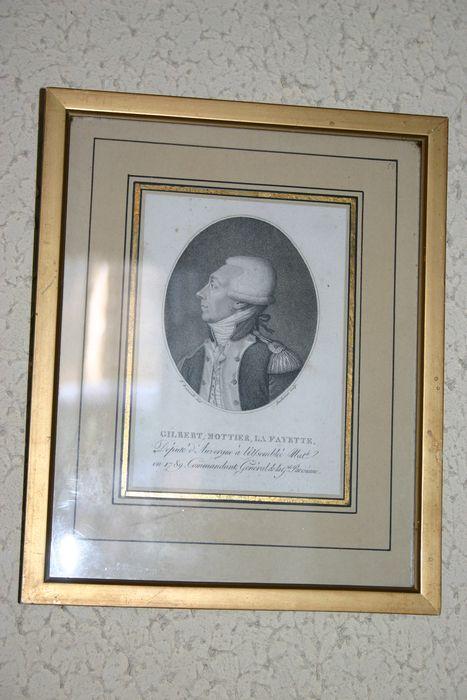 Estampe encadrée : Portrait du marquis de Lafayette