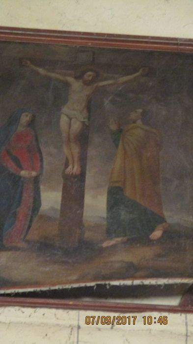 toile du maître-autel : la Crucifixion, vue générale