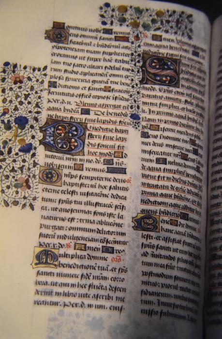 manuscrit, dit pontifical de Mende, détail