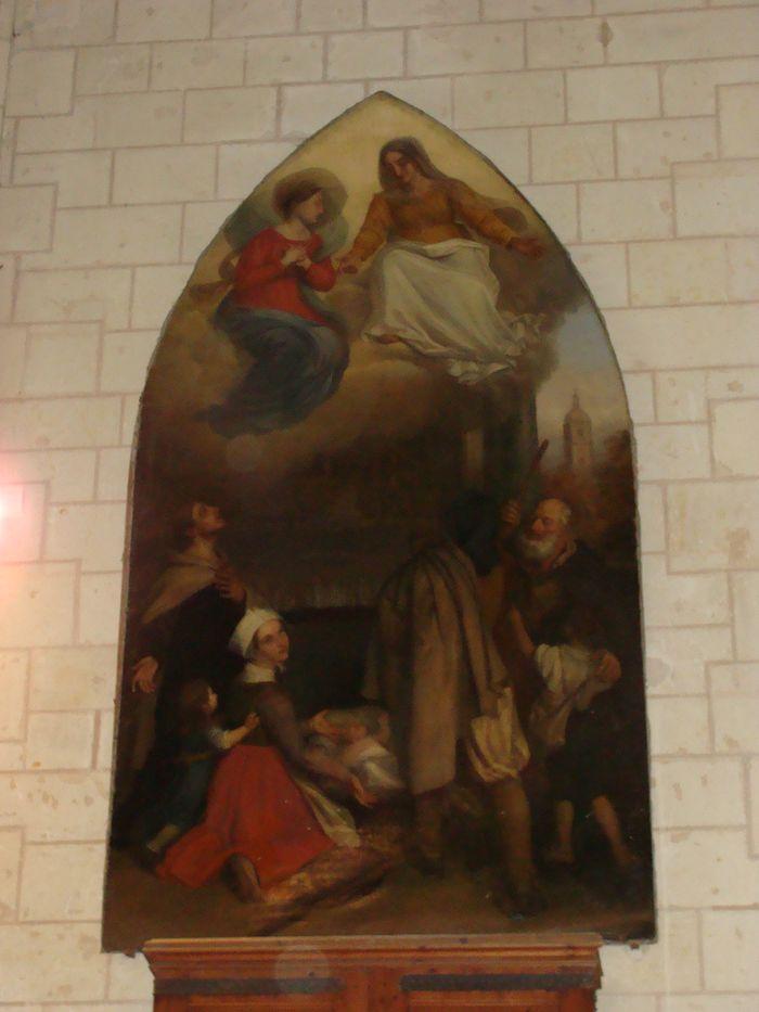 Tableau : Les pauvres implorant la Vierge