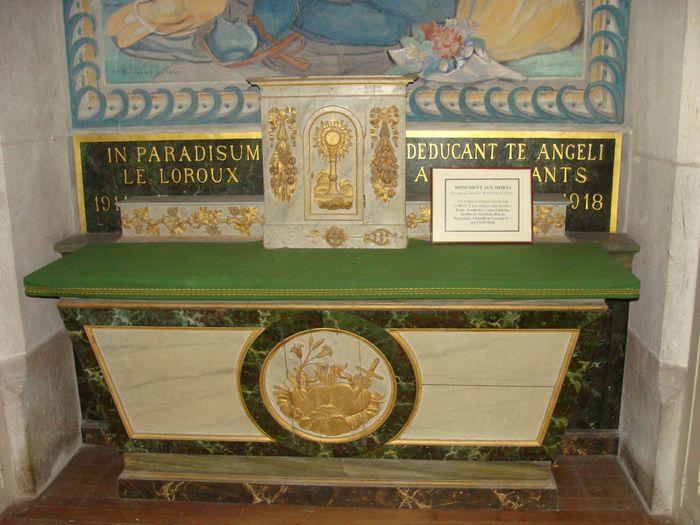 Autel, tabernacle et gradin