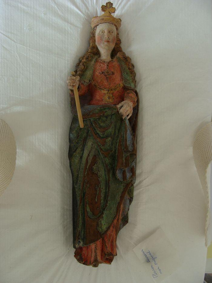Statue (statuette) : Sainte couronnée