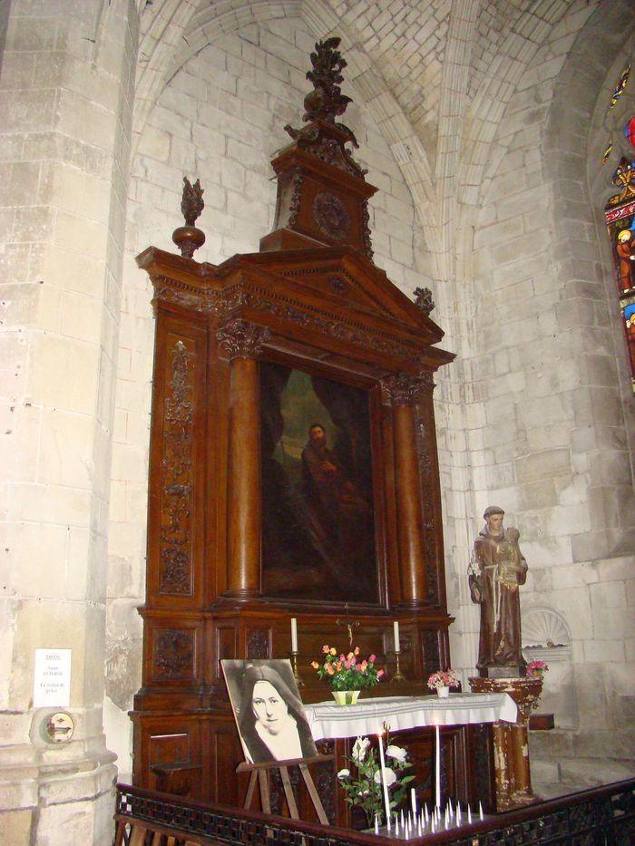 Autel et retable de Saint-François-d'Assise avec son tableau
