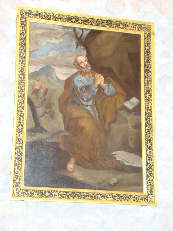 Tableau et son cadre : Le repentir de saint Pierre