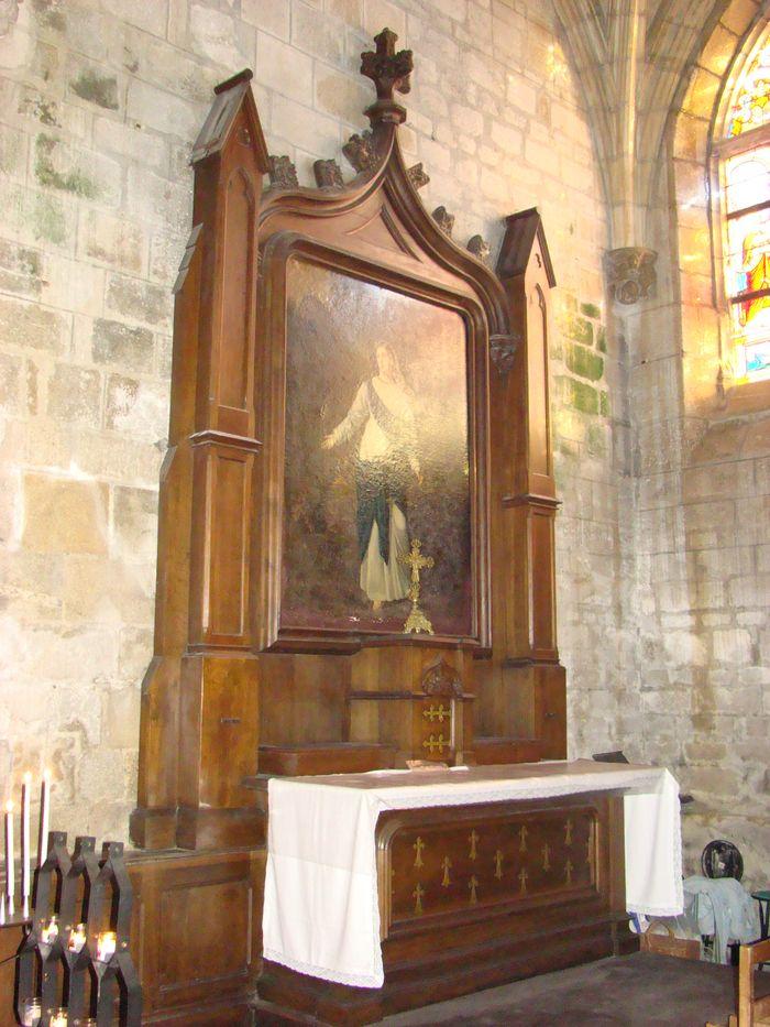 Autel et retable de Sainte-Marguerite-d'Antioche avec sa toile
