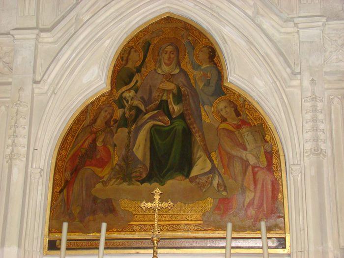 Tableau (de retable) : Sainte Anne en majesté