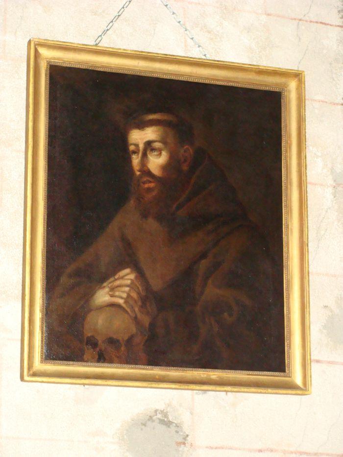 Tableau : Saint François d'Assise en méditation