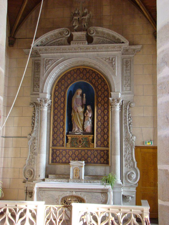 Autel et retable de sainte Anne avec sa clôture et son groupe sculpté : L'Education de la Vierge