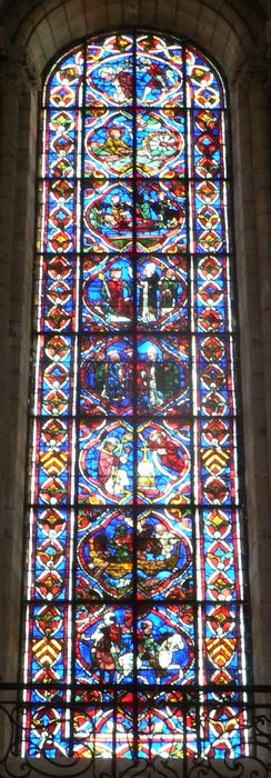 Verrière F 108 gauche : Vie de Thomas Becket dit saint Thomas de Cantorbéry