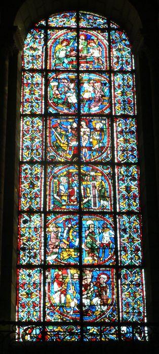 Verrière F 125 : la Passion de sainte Catherine d'Alexandrie