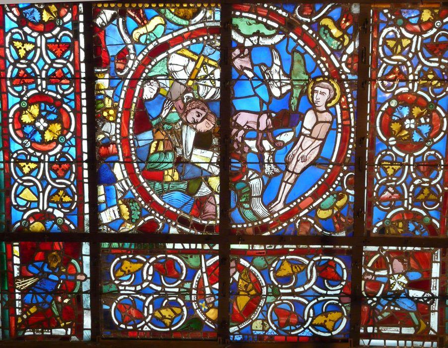 Verrière F 121 : le Martyre de saint Vincent d'Espagne