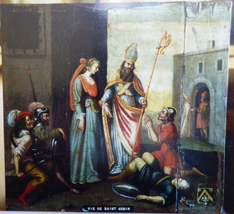 Tableau : Saint Aubin libère Ethérie