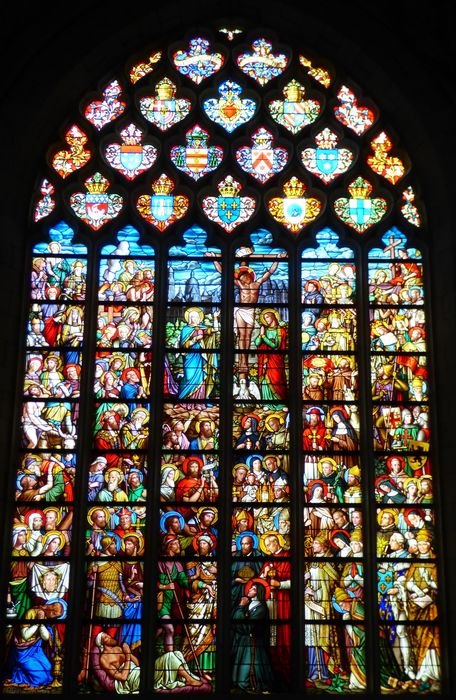 Verrière n°28 dite du Sacré-Coeur