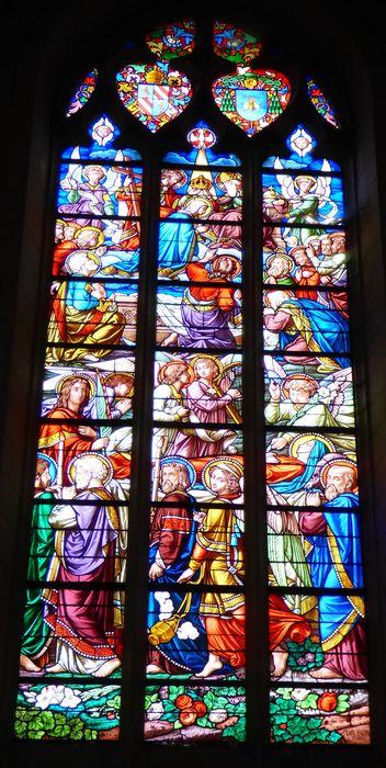 Verrière n°126 dit des funérailles de la Vierge