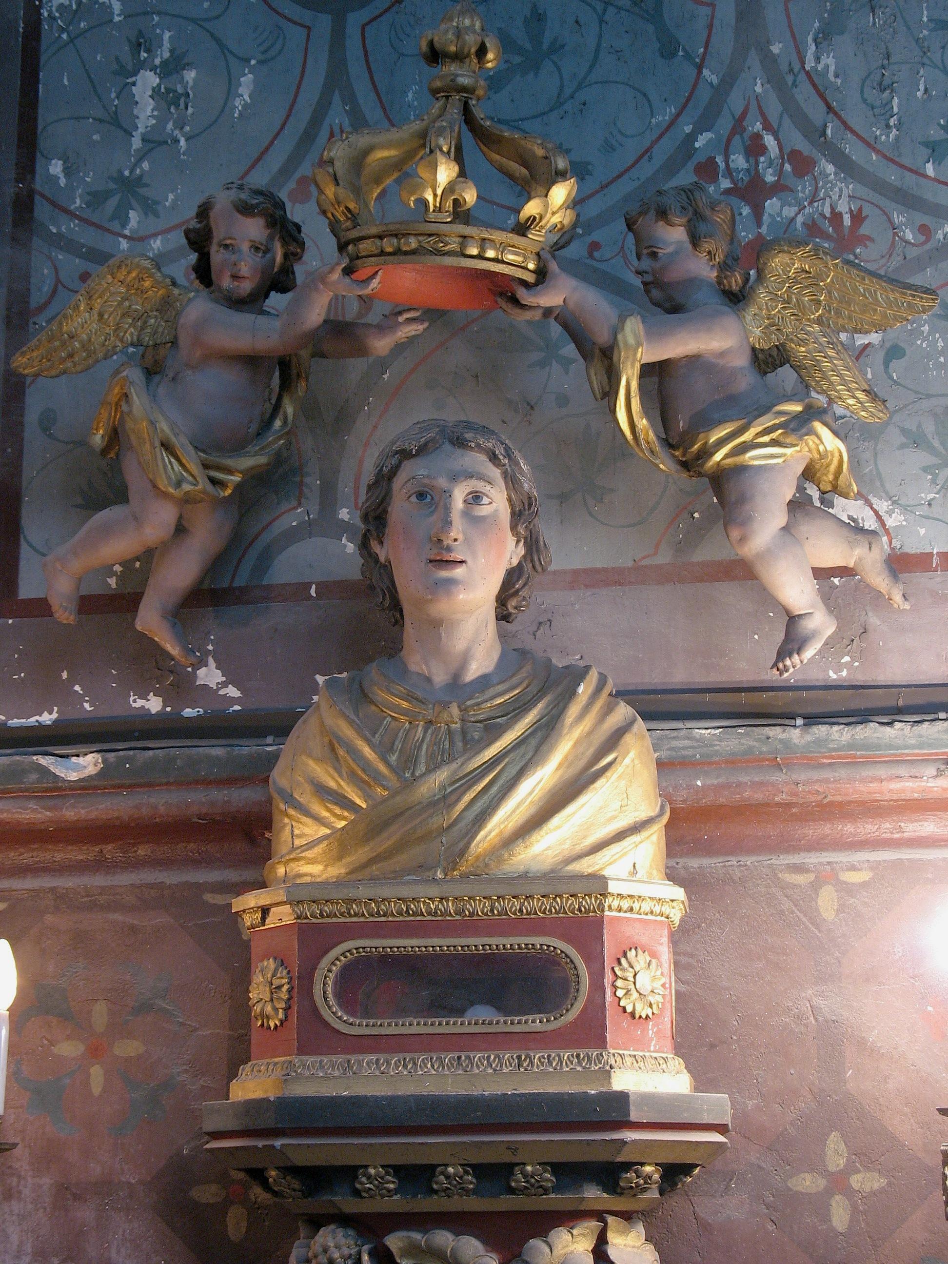 Buste-reliquaire de saint-Evrard