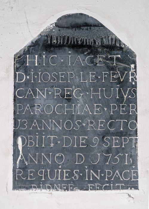 inscription funéraire de Jean-Joseph Lefèvre