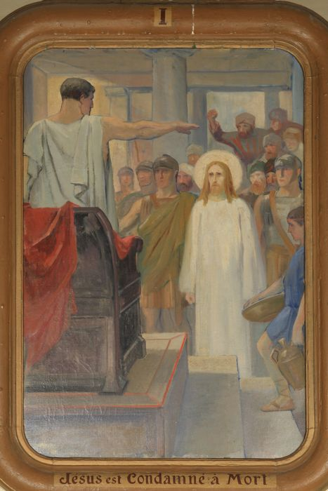 chemin de croix, étape n°1 : Jésus est condamné à mort