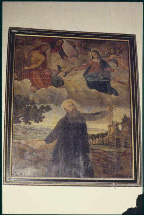tableau, cadre : Extase de saint Ignace