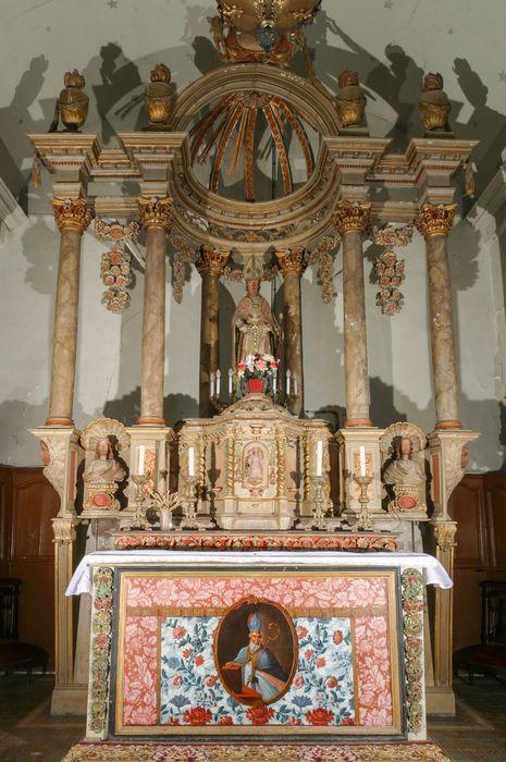 maître-autel, baldaquin et statue de Saint Martin