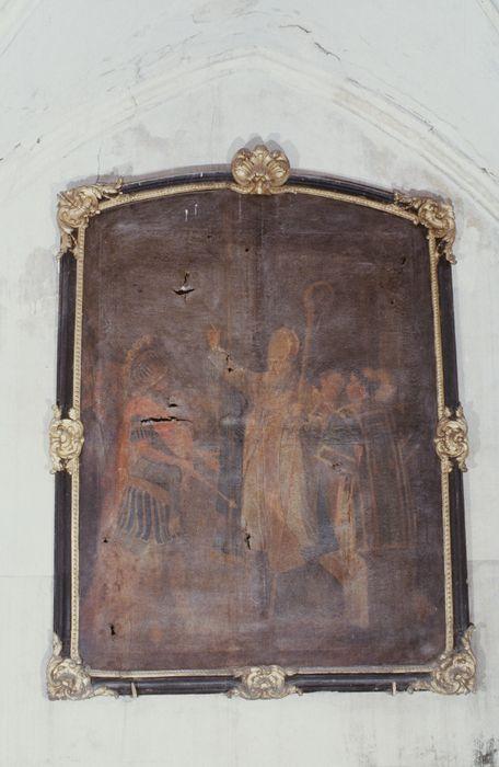 tableau, cadre : Saint Loup arrêtant le sénéchal de Clotaire