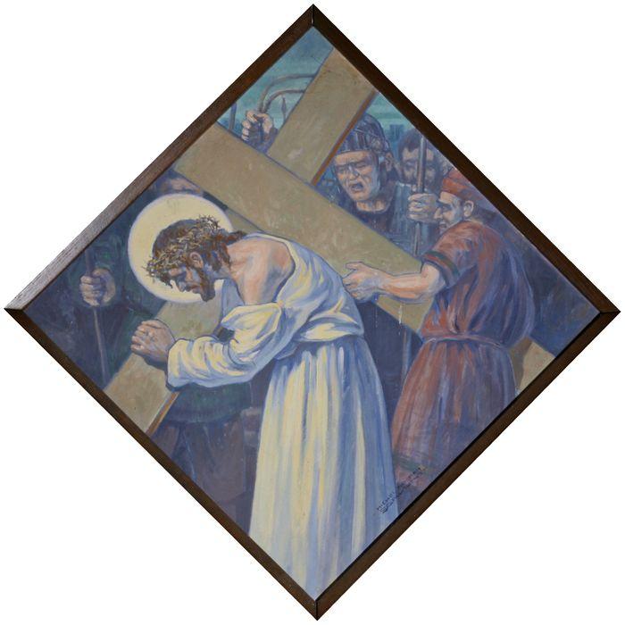 chemin de croix, étape n°2 : Jésus est chargé de sa croix