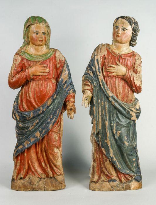 statues d'applique : Vierge et Saint Jean