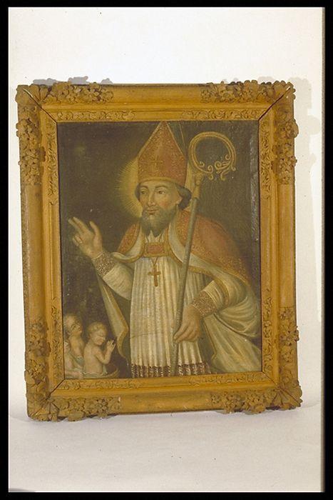 tableau, cadre : Saint Nicolas et les trois enfants