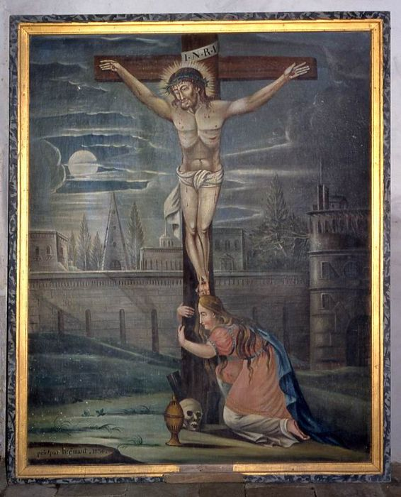 tableau : Madeleine au pied du Christ en croix