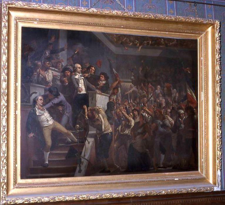 Tableau : Jean Denis Lanjuinais à la tribune de la convention mondiale, le 2 juin 1793
