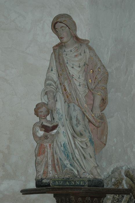 Groupe sculpté : Sainte Anne et la Vierge fillette