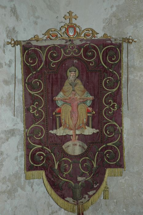 Bannière de procession : Sainte Trinité et Saint Judicaël