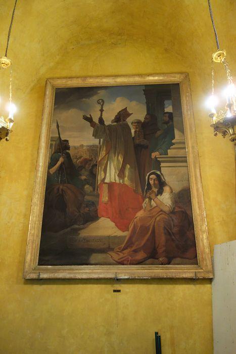 Tableau : Prédication de l'évêque saint Aignan