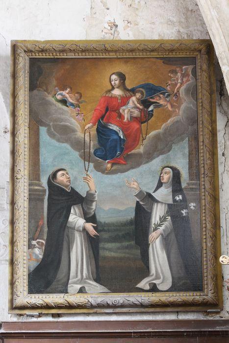 tableau et son cadre : Remise du Rosaire