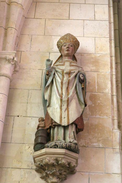 Deux statues : Saint Nicolas, Saint Léger