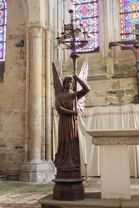 Deux statues : Anges photophores