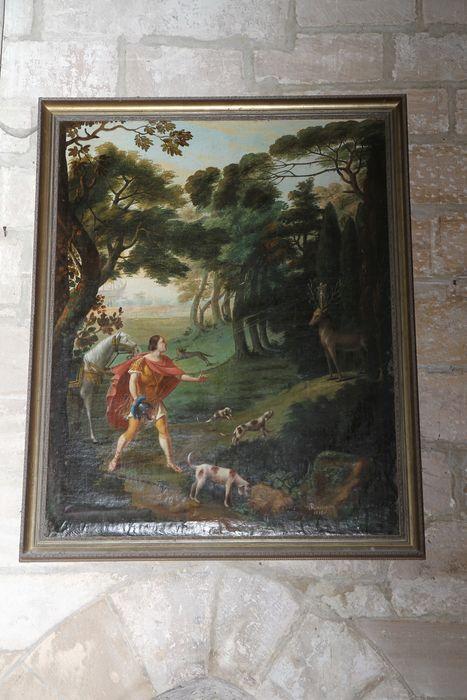 Tableau : La chasse de saint Hubert