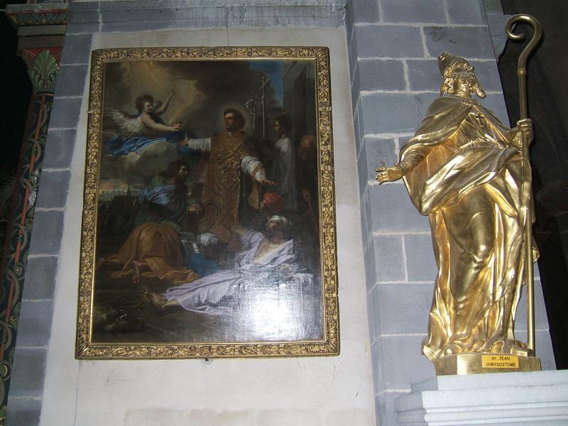 Tableau : saint Amable ressuscitant un mort