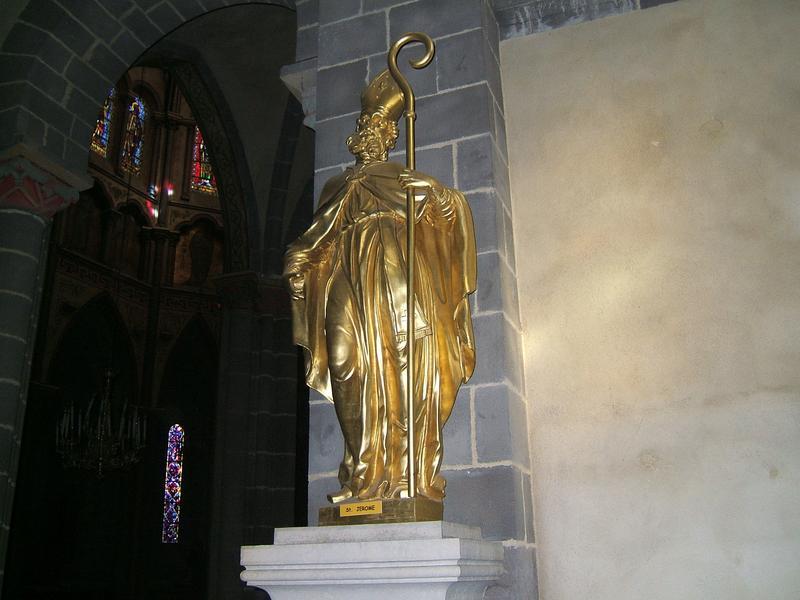 2 statues : saint Jérome et saint Jean Chrysostome
