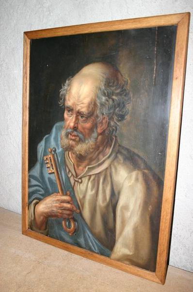 Ensemble de douze panneaux peints représentant les douze apôtres