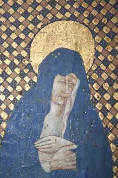 Diptyque portatif de dévotion : le Calvaire et le Christ en majesté