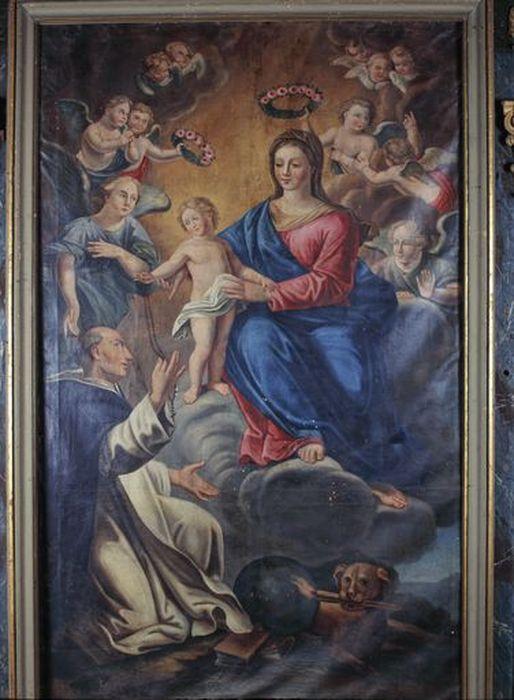 Tableau du retable latéral droit : Vierge à l'Enfant